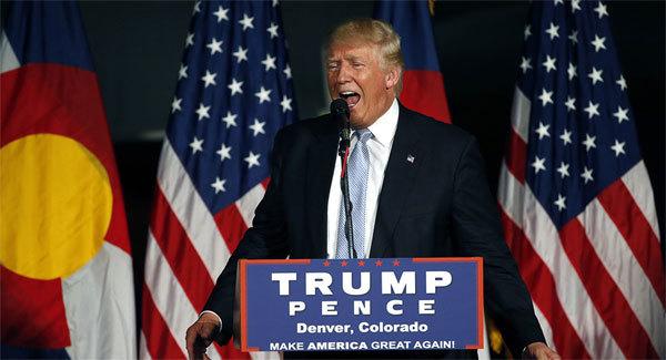 Donald Trump bị 'nhốt'