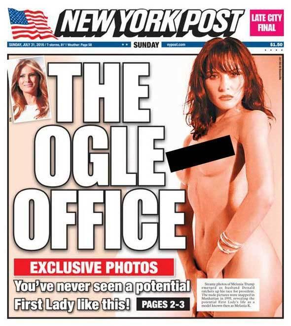 Loạt ảnh khỏa thân của vợ Trump bất ngờ lên báo
