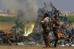 Video trực thăng Nga bị bắn hạ bốc cháy ngùn ngụt