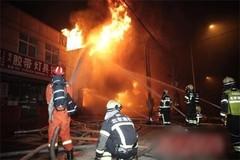 Cháy chợ khủng khiếp giữa Bắc Kinh