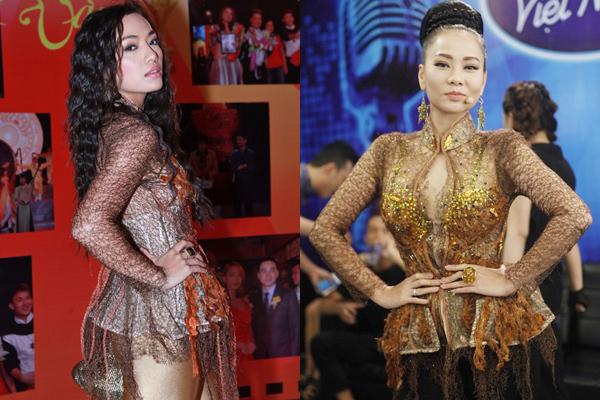 Thu Minh lại vướng nghi án 'đụng hàng' trang phục