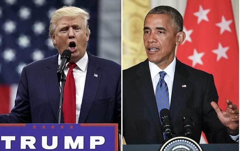 Trump , Obama, khẩu chiến, ứng viên TT Mỹ, bầu cử TT Mỹ