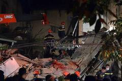 Sập nhà 4 tầng: Khối bê tông lớn đã đè nạn nhân tử vong