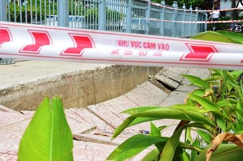 'Hố tử thần' xuất hiện lúc rạng sáng ở Sài Gòn
