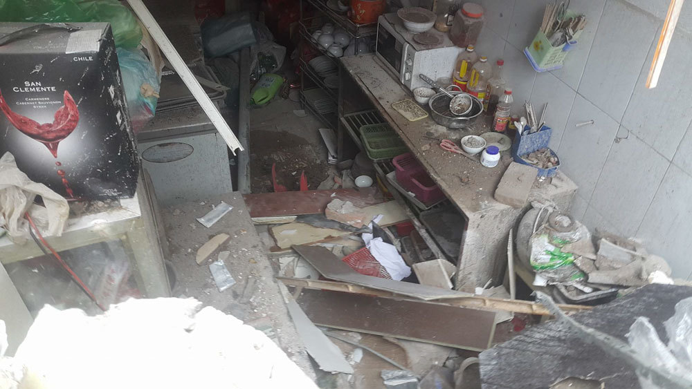 Hình ảnh nhà bị sập số 43 Cửa Bắc