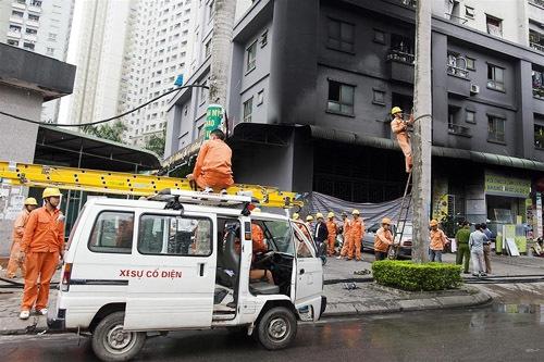 cháy chung cư, chung cư của đại gia Lê Thanh Thản, an toàn phòng cháy chung cư