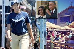 Tiểu thư nhà Obama làm thêm tại nhà hàng hải sản