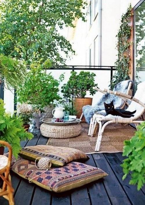 thiết kế ban công, trang trí ban công, vườn hoa ban công