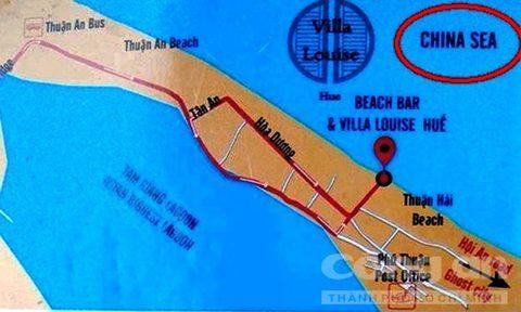 bản đồ, biển Việt Nam, Trung Quốc, Villa Louise Huế , biển Đông, du lịch, du khách, hướng dẫn viên