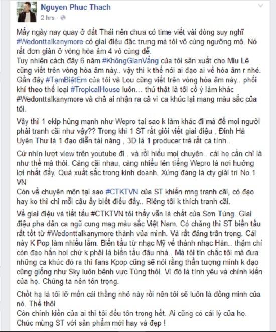 Có âm mưu sau nghi án đạo nhạc của Sơn Tùng?