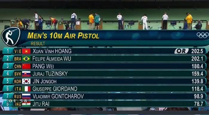 Hoàng Xuân Vinh, HCV bắn súng, Olympic 20016, Olympic Rio 2016, đoàn Việt Nam