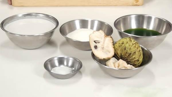 chè na sữa dừa, kiểu Thái, món chè, ăn vặt, vỉa hè, chè Thái