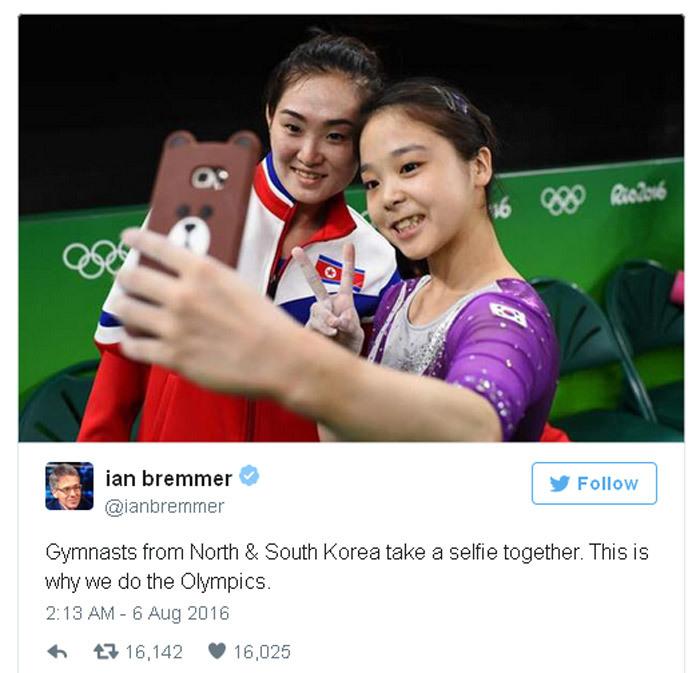 Olympic, tự sướng, hình ảnh, Triều Tiên, Hàn Quốc, thi đấu, thể thao, biểu tượng