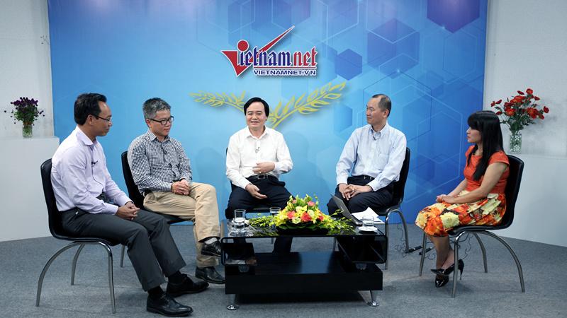 Bộ trưởng Nhạ, GS Châu bàn chuyện thu hút nhân tài - Ảnh 1.