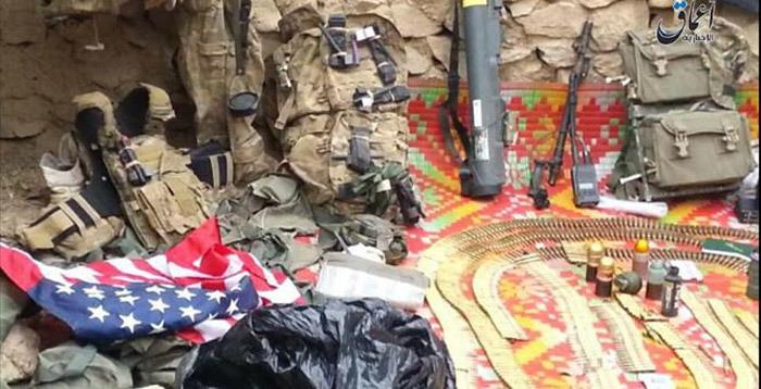 IS khoe tóm được mẻ vũ khí Mỹ