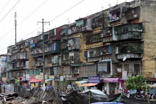 cải tạo chung cư cũ, đất vàng Hà Nội, nhà tập thể cũ chờ sập