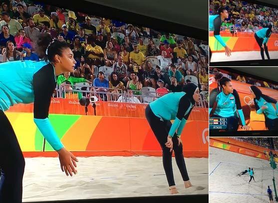 Trùm kín mít đấu bóng chuyền bãi biển tại Olympic