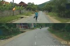 Người phụ nữ chạy bộ lao vào đầu ô tô