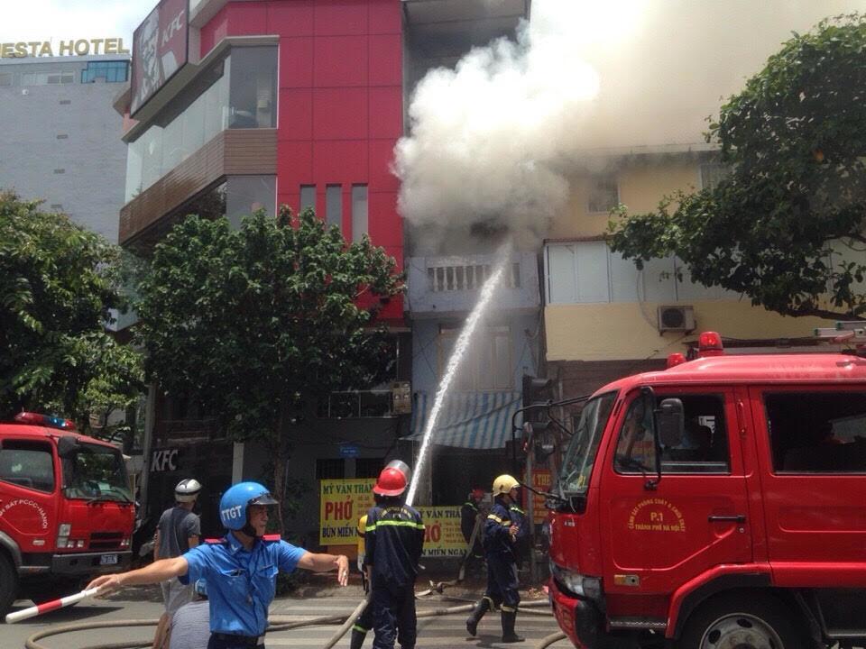 cháy nhà, lê duẩn, cháy nhà 4 tầng