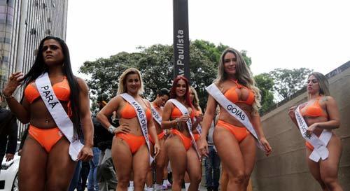 Hình ảnh nóng bỏng cuộc thi Hoa hậu siêu vòng ba