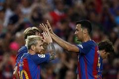 Messi lập cú đúp, Barca thắng nghẹt thở Sampdoria