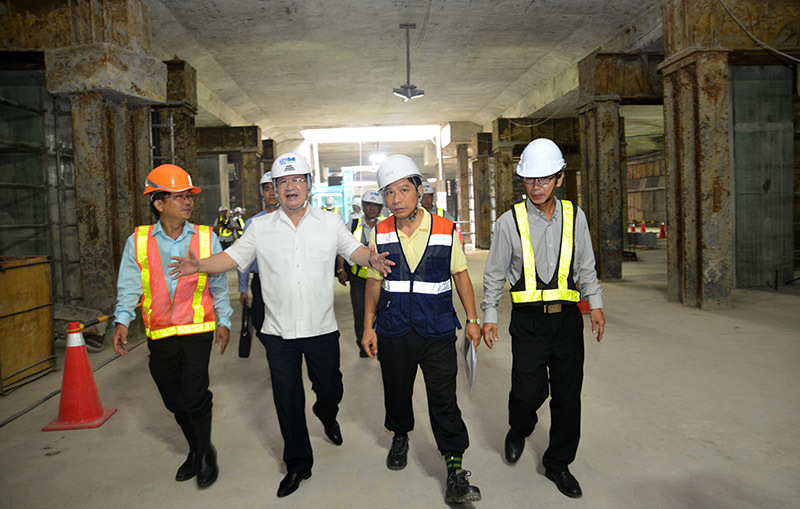 Phó Thủ tướng thị sát tuyến metro Bến Thành - Suối Tiên
