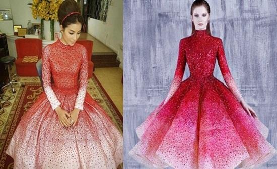 Nghi án Phạm Hương diện váy nhái