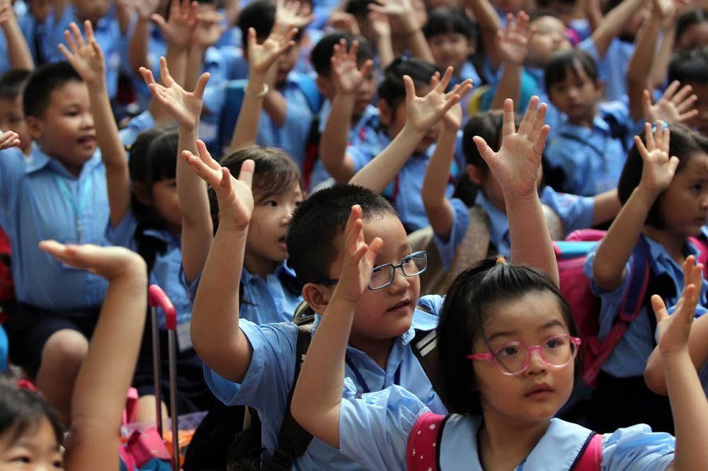 học sinh tphcm khai giảng tựu trường
