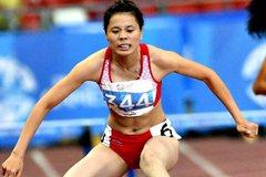 Phần thi của Nguyễn Thị Huyền ở vòng loại 400m vượt rào nữ