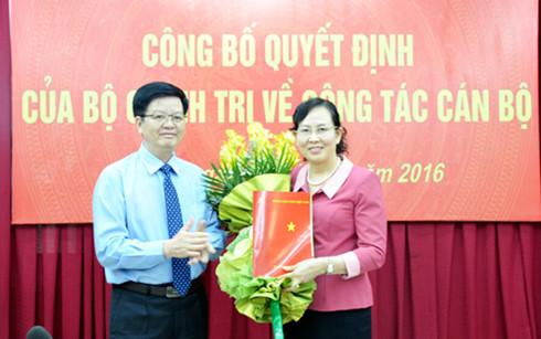 Nữ Phó tổng Thanh tra làm Phó chủ nhiệm UB Kiểm tra TƯ
