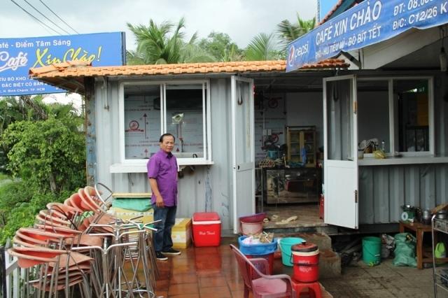 Quán cà phê Xin Chào bị chỉ đạo cắt điện, nước