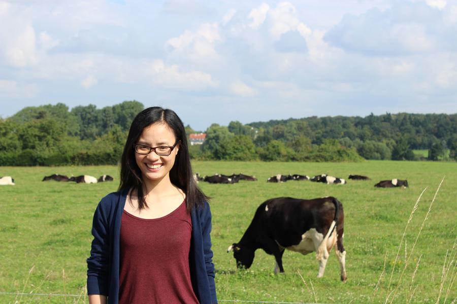 Trần Thị Mai hiện đang làm nghiên cứu sinh Tiến sĩ và công tác tại một trường đại học của Đức. Ảnh: NVCC