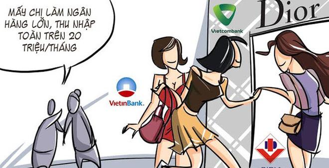 Làm ngân hàng sống không bằng lương mà bằng… tiền đi mượn