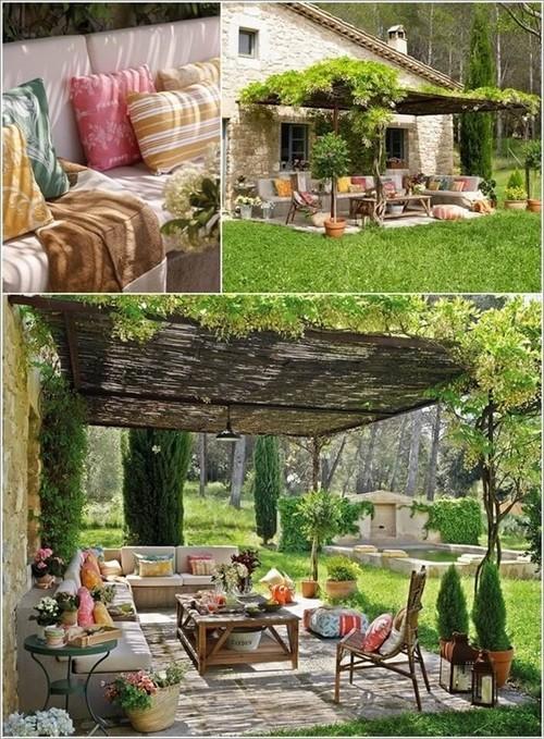 trang trí hiên nhà, hiên nhà mùa thu, màu sắc mùa thu