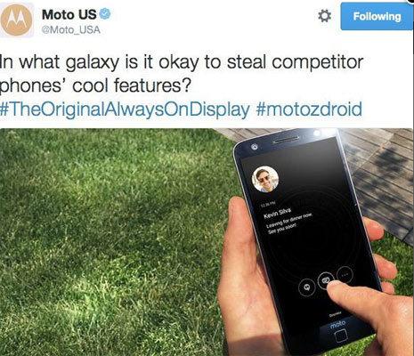 Motorola mắng xéo Samsung đạo ý tưởng