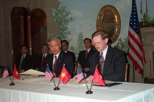 Đại hội VI, Đại hội VII, đối ngoại, Hiệp định thương mại, Trung Quốc, Campuchia, Hoa Kì