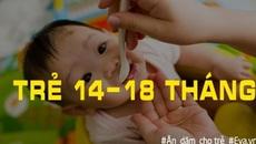 Mẹ cần biết: Chế độ ăn dặm cho trẻ từ 6 đến 18 tháng tuổi