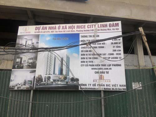 nhà ở xã hội, nhà ở xã hội Rice City Linh Đàm, BIC Việt Nam, Công ty CP Đầu tư và Thương Mại Thủ đô, nhà ở xã hội Ecohome