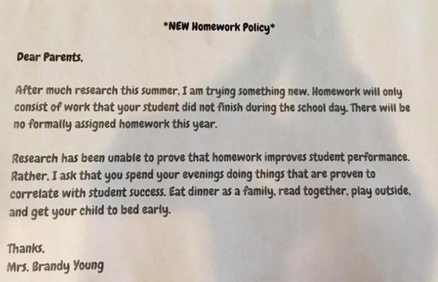 Bức thư gửi phụ huynh gây xôn xao của cô giáo Mỹ