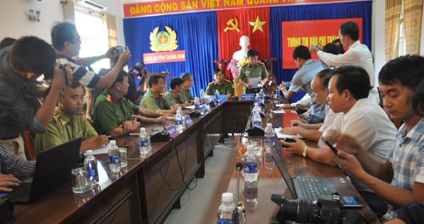 Quảng Nam, công an Quảng Nam, phá rừng pơ mu, công bố kết quả, Việt - Lào