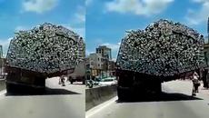 'Siêu xe tải' khiến người đi đường choáng
