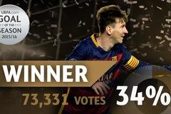 Bàn thắng đẹp nhất mùa giải 2015/16: Gọi tên Messi