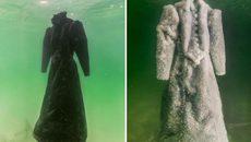 Điều kỳ lạ xảy ra khi ngâm váy đen trong Biển Chết