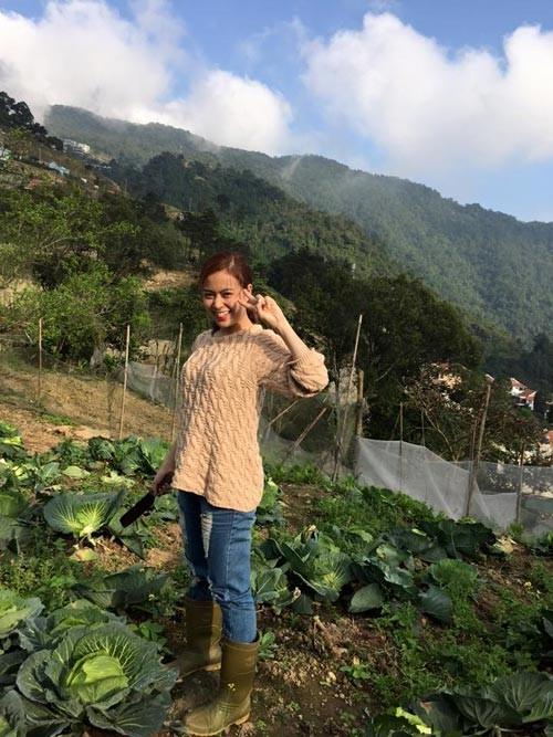 Ngắm vườn rau xanh của hai cô nàng Nhật Ký Vàng Anh