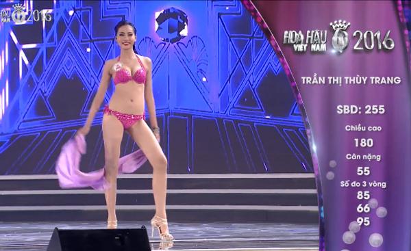 Màn trình diễn bikini nóng bỏng của Hoa hậu Việt Nam 2016