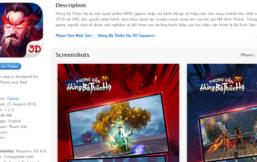 """Phong Vân 3D chính thức """"lên kệ"""" Appstore với tên gọi Hùng Bá Thiên Hạ 3D"""