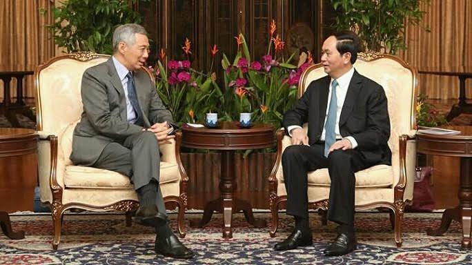 Thủ tướng Singapore đăng Facebook ảnh gặp Chủ tịch nước Trần Đại Quang