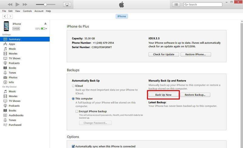 Cách sao lưu dữ liệu iPhone trước khi cài đặt iOS 10