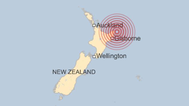 Động đất mạnh gây sóng thần ở New Zealand