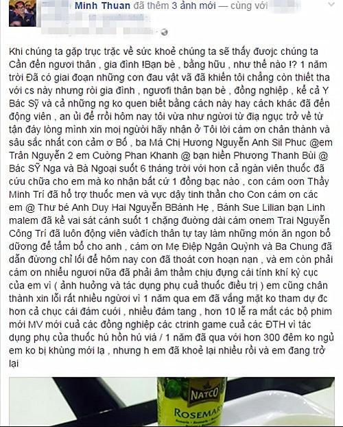 Xúc động vì sự kiên cường của Minh Thuận trước ung thư